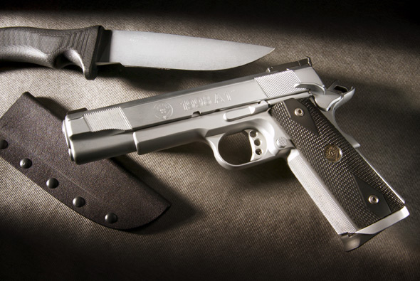 Hard Chrome  Customized 1911 Handgun